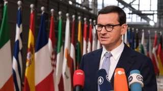 Polish PM Mateusz Morawiecki at Brussels summit, 21 Oct 21
