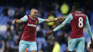 Dimitri Payet of West Ham celebrates