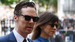 Benedict Cumberbatch and his wife Sophie Hunter attending the ceremony