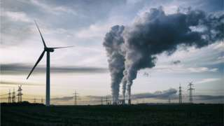 Wind turbine and a coal-fired power station