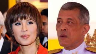 Composite image of Princess Ubolratana Mahidol and King Vajiralongkorn