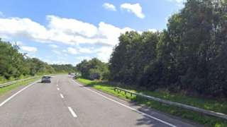 A man was killed in an accident on the A40 in Haverfordwest