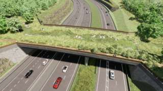 A visual of the A417 Gloucestershire Way crossing