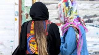 Woman in Tehran (file photo)
