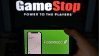 GameStop is listed as GME on the New York Stock Exchange.