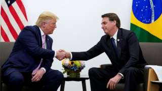 Donald Trump e Jair Bolsonaro no G20