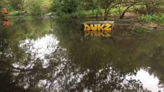 Flooding from burst pipe on Hackney Marshes