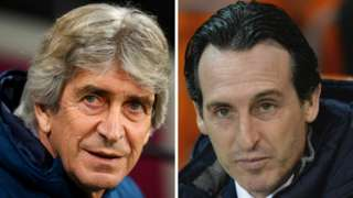 Manuel Pellegrini and Unai Emery