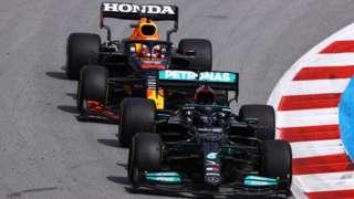 Hamilton leads Verstappen in Spain