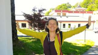 Beki Adam at the Tibetan monastery KTD in Woodstock, NY