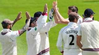 Jamie Overton celebrates