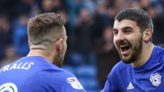 Joe Ralls and Callum Paterson celebrate the latter's opener against Sunderland