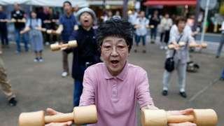 日本老人鍛煉