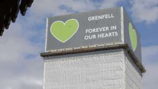 Grenfell Tower in June 2020