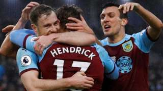 Burnley's players celebrate