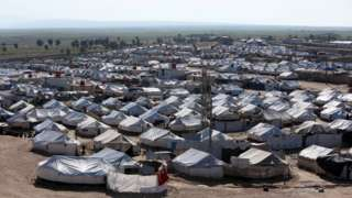 صورة لمخيم الهول في أبريل/نيسان 2019