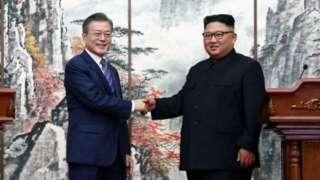 د شمالي او سوېلي کوریا مشران
