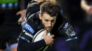Tommy Seymour scores a try for Glasgow against Cardiff Blues