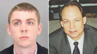 Brock Turner (left) was sentenced by Judge Persky (right)