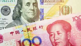 US and China currencies