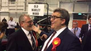 Tom Watson with John Spellar