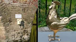 Impro installations (Floodline phone and Golden Cock)