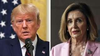 US President Donald Trump and House Speaker Nancy Pelosi