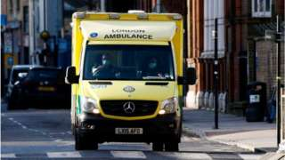 Ambulance in London street