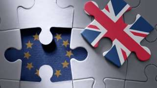 Jigsaw with UK flag piece removed