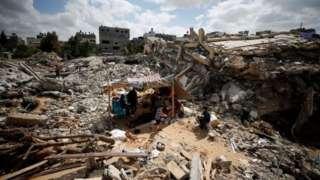 Kerusakan di Gaza, serangan Israel