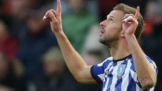 Sheffield Wednesday's Jordan Rhodes celebrates goal