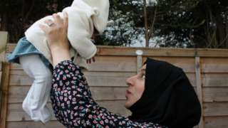 Marriam Ahmad and baby Khadija
