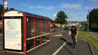 The cycle superhighway between Bradford and Leeds