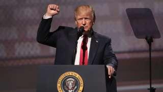 Tramp tokom jednog od govora