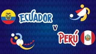 Ecuador v Peru badge graphic