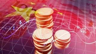 Ilustração mostra cédulas e moedas da China