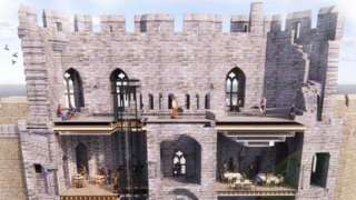 Artist impression of works to improve access to Caernarfon Castle