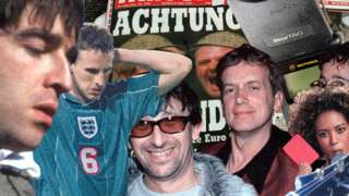 Liam Gallagher, Gareth Southgate, Ian Broudie, Frank Skinner and the Spice Girls
