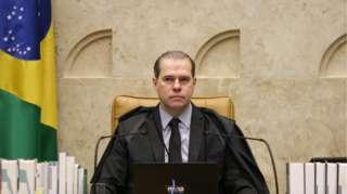 Presidente do STF, Dias Toffoli, coordena sessão remota do STF sobre o inquérito das Fake News