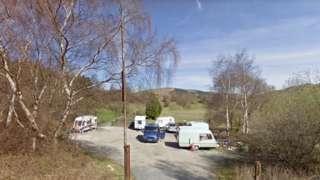 Travellers site in Machynlleth Golf Club