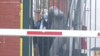 Tony Thomas arriving in court
