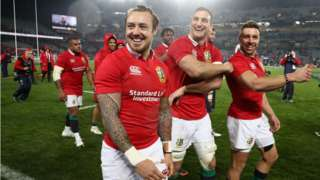 Lions trio Jack Nowell, Sam Warburton and Rhys Webb on the 2017 tour