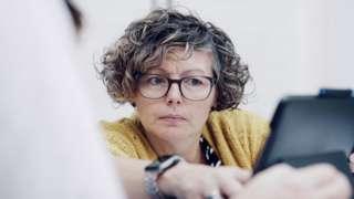 Sign language interpreter Lynn Stewart-Taylor