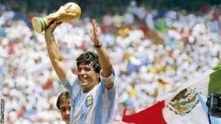 马拉多纳带领阿根廷赢得1986年世界杯冠军(Credit: Getty Images)
