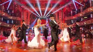 Strictly pros dancing at Blackpool Tower Ballroom in 2016