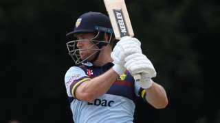 Durham were in trouble on 171-6 when Sean Dickson was joined by Luke Doneathy, but he went on to hit his maiden one-day ton
