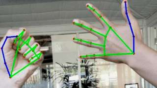 Google hand tracking two hands