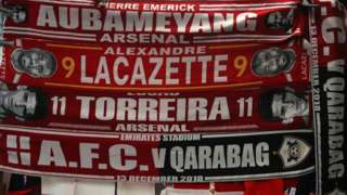 Arsenal scarves