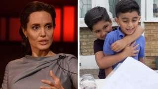 Angelina Jolie / Ayaan Moosa and Mikaeel Ishaaq