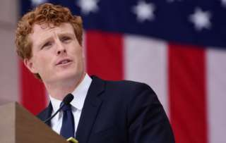 Joe Kennedy III speaks during a Remembrance and Celebration of the Life & Enduring Legacy of Robert F. Kennedy event in June 2018